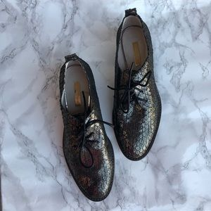 Metallic Louise et Cie Oxford Shoes